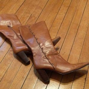 Women's knee-high tan boots
